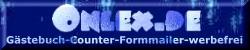 G�stebuch, Counter und Formmailer mit Spam-Schutz - Kostenlos und werbefrei auf www.onlex.de