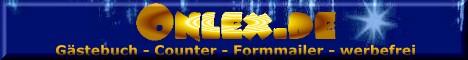 Gästebuch, Counter und Formmailer mit Spam-Schutz - Kostenlos und werbefrei auf www.onlex.de